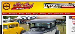 Hot Rod Fanatics website design thumbnail