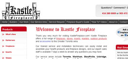 Kastle Fireplace website design thumbnail