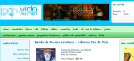 Libreria Pan de Vida e-commerce design