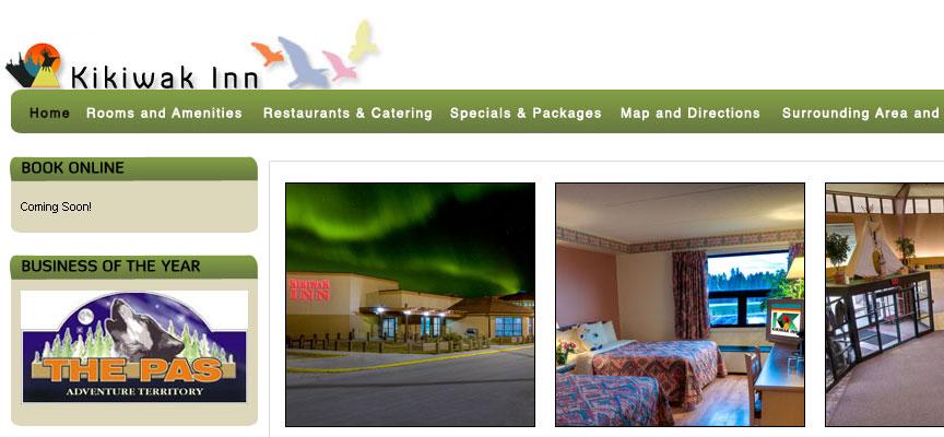 Kikiwak Inn Website - Full Size Screen Capture