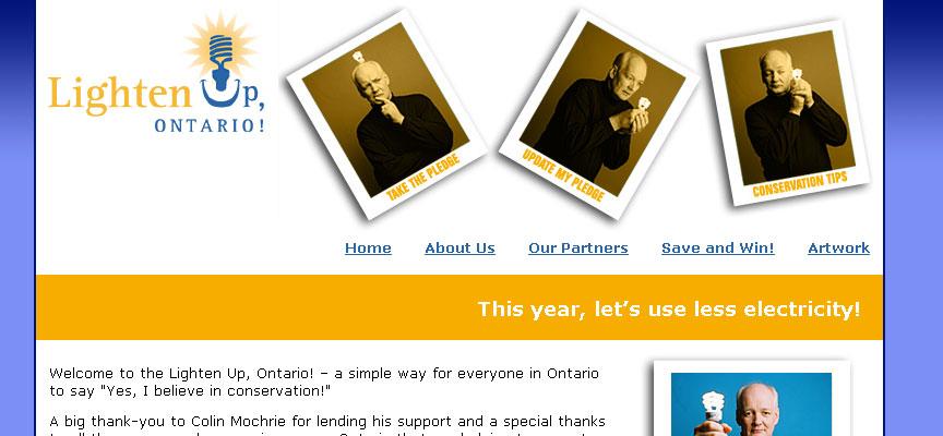 Lighten Up, Ontario! Website - Full Size Screen Capture