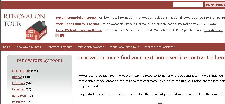 Renovation Tour Website - Full Size Screen Capture
