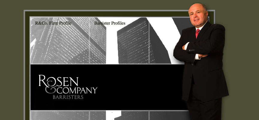 Rosen and Company, Barristers Website - Full Size Screen Capture