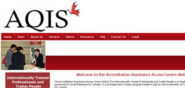Accreditation Assistance Access Centre Small Portfolio Screen Capture