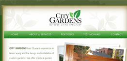 City Gardens Small Portfolio Screen Capture
