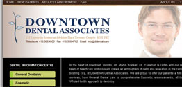 Downtown Dental Associates Small Portfolio Screen Capture