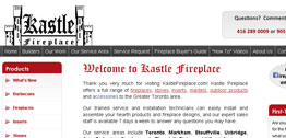 Kastle Fireplace Small Portfolio Screen Capture
