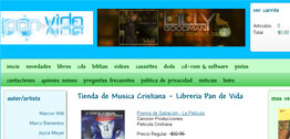 Libreria Pan de Vida Small Portfolio Screen Capture