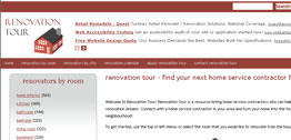 Renovation Tour Small Portfolio Screen Capture
