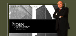 Rosen and Company, Barristers Small Portfolio Screen Capture